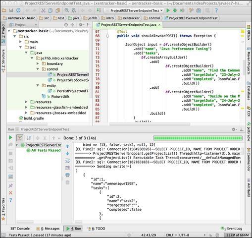 A working example - Java EE 7 Developer Handbook