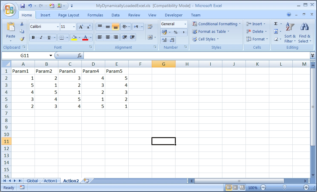 Importing an Excel file to a test - Advanced UFT 12 for Test