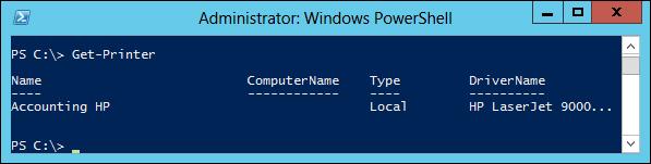 install printer driver from print server powershell