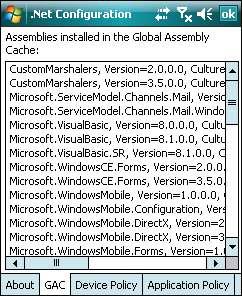 Using the App Configuration tool -  NET Compact Framework