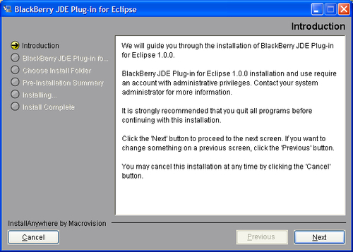 Time for action - installing the JDE plugin for Eclipse Full