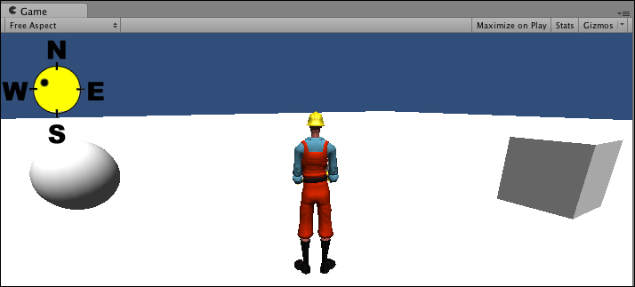 Displaying a compass to show player direction - Unity 4 x Cookbook