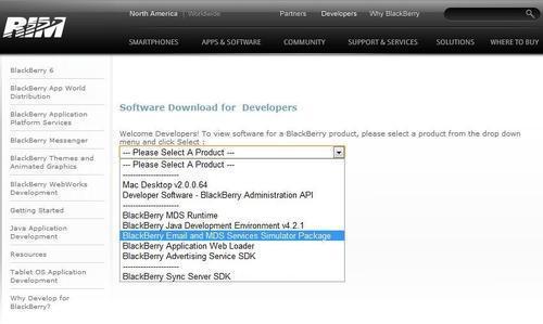 BlackBerry simulator - HTML5 Mobile Development Cookbook
