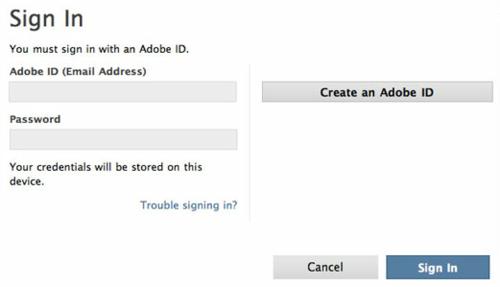 Adobe ID - Learning Adobe Muse