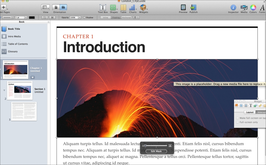 Building a London travel guide with iBooks Author (Become an