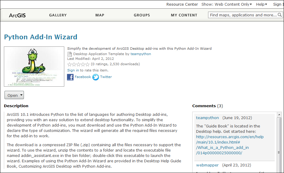 Downloading and installing the Python Add-In wizard - Programming
