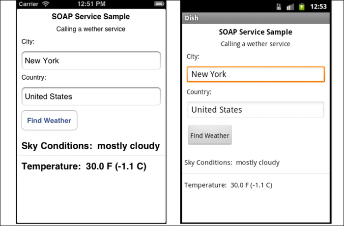 Making SOAP service calls using SUDS js - Appcelerator Titanium