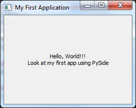 My first PySide application - PySide GUI Application Development